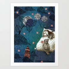 Bed-Time Art Print