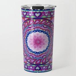Colour Burst Mandala Travel Mug