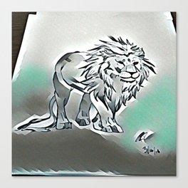 Dark Lion by Ryan Reynolds Canvas Print