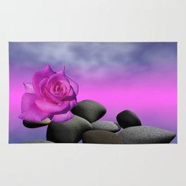 just a purple rose Rug