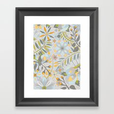 Faded Summer Blossoms Framed Art Print