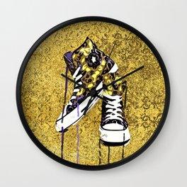 Animal Print Tennis Shoes Take a Walk On The Wild Side Wall Clock