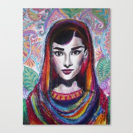 Hijabi Hepburn Canvas Print