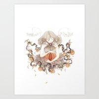 blossom Art Prints featuring Blossom by Corinne Reid