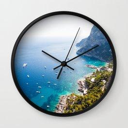 Capri, bay of Naples, Italy Wall Clock