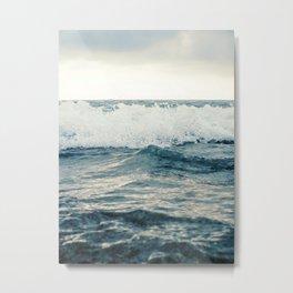 Ocean Water Background, Wave Close Up Metal Print