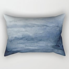 Indigo Abstract Painting | No.2 Rectangular Pillow