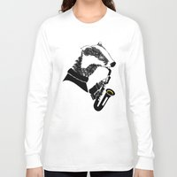 badger Long Sleeve T-shirts featuring Badger Saxophone by mailboxdisco
