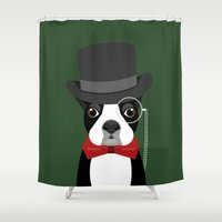 boston Shower Curtains featuring Boston by Sarah Becker