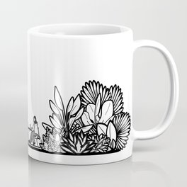 Mocha and Monstera II Coffee Mug