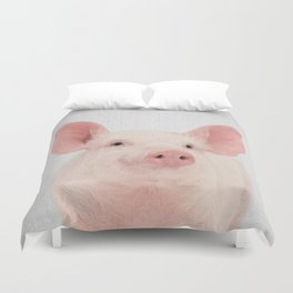 Pig - Colorful Duvet Cover