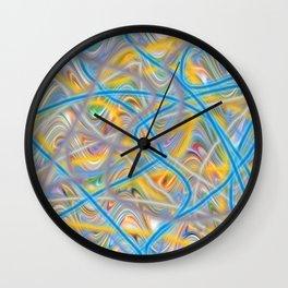 Satin Waves Wall Clock
