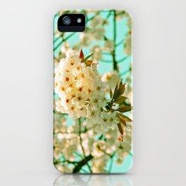 White Spring Love iPhone Case