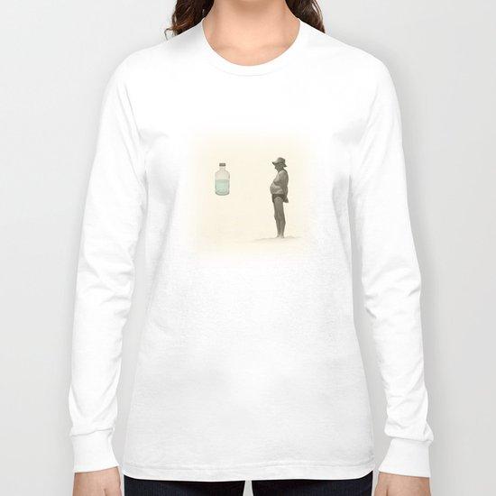 beach and a bottle Long Sleeve T-shirt