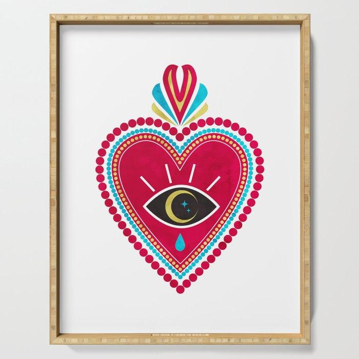Ex Voto Sacred Heart Serving Tray