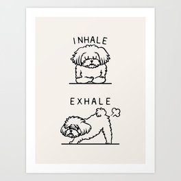 Inhale Exhale Maltese Art Print