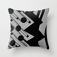Driving Particles Throw Pillow