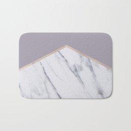 Smokey lilac - rose gold geometric marble Bath Mat