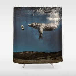 we exist in the same exhale. Shower Curtain