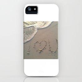 Sand Writing I Heart You iPhone Case
