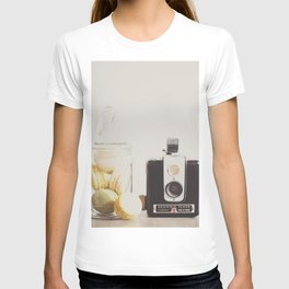 a vintage kodak brownie camera with delicious french macarons T-shirt