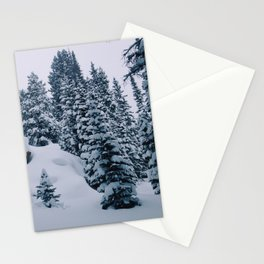 Still snow pines Stationery Cards