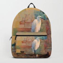 Snowy Egret Sunrise Backpack