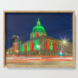San Francisco City Hall Holiday Light Serving Tray