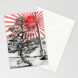 Japanese tree Stationery Cards