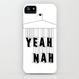 Yeah Nah Wireframe iPhone Case