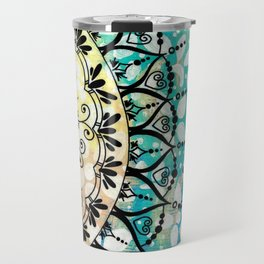 Flower Mandala Pattern Travel Mug