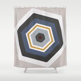 hexagon purple Shower Curtain