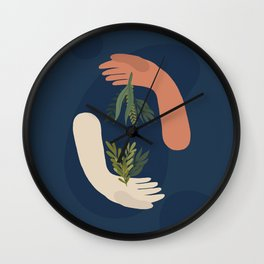 Keeping Nature #1 Wall Clock