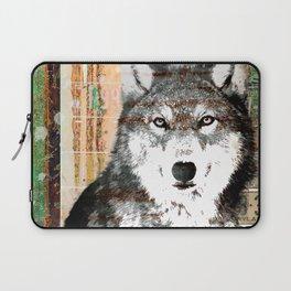 Industrial Woodland Wolf Laptop Sleeve