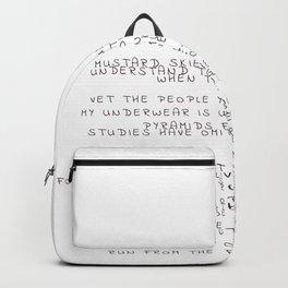 random words and words Backpack