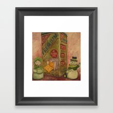 Snowmen and Crackers Framed Art Print
