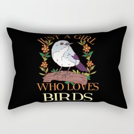BIRDKEEPER: Just A Girl Who Loves Birds Bird Lover Watching Mom Keeper Rectangular Pillow
