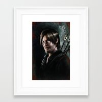 daryl dixon Framed Art Prints featuring Daryl Dixon by Angelo Quintero
