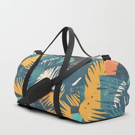 ABSTRACT TROPICAL SUNSET with palm leaves Duffle Bag