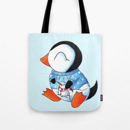Sweater Penguin Tote Bag