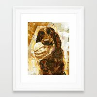 bucky Framed Art Prints featuring Bucky  by Maritza Hernandez