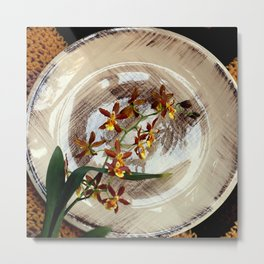 A Brushstroke Of Orchid Genus Metal Print