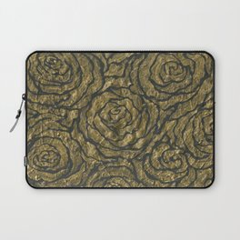 Intense Rose Print on Textured Canvas Laptop Sleeve