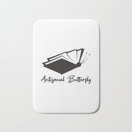 Antisocial Butterfly Book Lover Gift Bath Mat