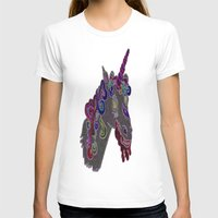 trippy T-shirts featuring trippy unicorn by smurfmonster