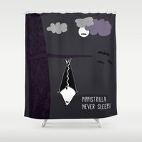 batgirl Shower Curtains featuring Pippistrilla by zoolue