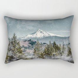 Frosty Mountain - Nature Photography Rectangular Pillow