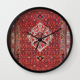 Bijar Kurdistan Northwest Persian Rug Print Wall Clock