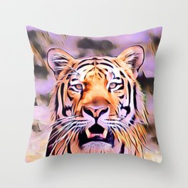 Awesome modified Tiger Throw Pillow