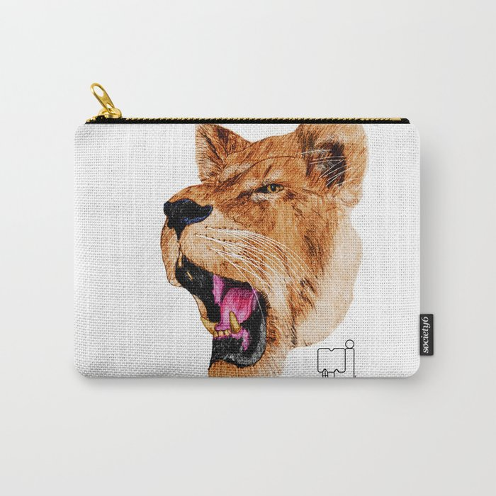 lion 2_head Carry-All Pouch